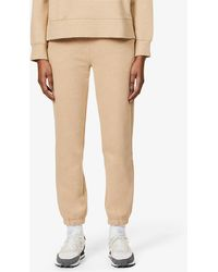 Rails Kingston Tapered High-rise Cotton-jersey jogging Bottoms - Natural
