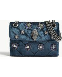 Kurt Geiger - Mini Kensington Embellished Velvet Shoulder Bag - Lyst