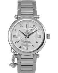 Vivienne Westwood - Vv006sl Orb Stainless Steel Watch - Lyst