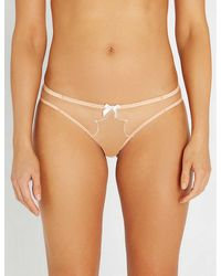 Agent Provocateur Lorna Mid-rise Mesh Briefs - Natural