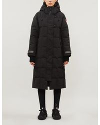 Canada Goose Elmwood Quilted Shell-down Parka Coat - Black
