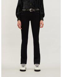 PAIGE Manhattan High-rise Bootcut Jeans - Black