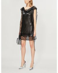 Christopher Kane - Lace-trimmed Chainmail Dress - Lyst