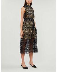 Claudie Pierlot Tikae Lace Midi Dress - Black