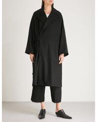 Y's Yohji Yamamoto - Oversized Wool Coat - Lyst