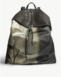 Rick Owens Midi Megaduffle Metallic Leather Backpack - Multicolor