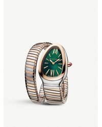BVLGARI 102236 Serpenti Tubogas 18ct Rose-gold And Stainless Steel Quartz Watch - Metallic