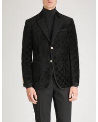 Gucci - Palma GG Regular-fit Velvet Jacket - Lyst