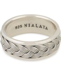 Nialaya - Woven Cable Ring - Lyst