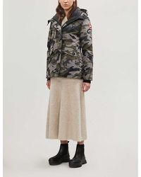 Canada Goose Rideau Camouflage-print Hooded Shell-down Jacket - Multicolour