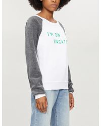 Wildfox - I'm On Vacation Cotton-blend Sweatshirt - Lyst