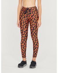 The Upside Raspberry Leopard Stretch-jersey leggings - Orange