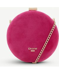 Dune Beautey Round Suede Clutch - Multicolour