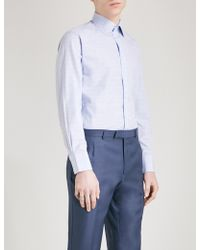 Thomas Pink - Plath Checked Slim-fit Cotton Shirt - Lyst