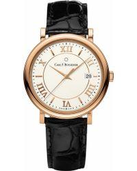 Carl F. Bucherer - 00.10311.03.15.01 Adamavi Rose-gold Sapphire Crystal And Leather Watch - Lyst