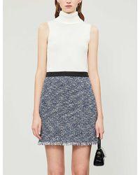 Claudie Pierlot Seasone Tweed Mini Skirt - Blue