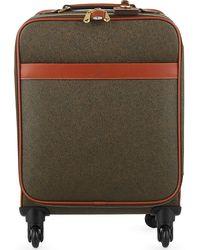 Mulberry Scotchgrain Four-wheel Trolley Suitcase 55cm - Brown
