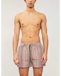 Paul Smith Artist Stripe Swim Shorts - Blue