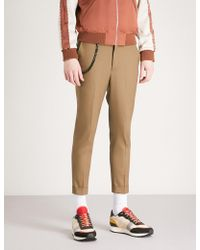 The Kooples - Chain Stretch-wool Trousers - Lyst