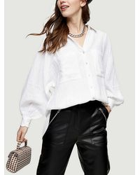 TOPSHOP Hite Cotton Casual Shirt - White