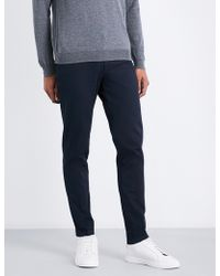 BOSS Black - Slim-fit Stretch-cotton Trousers - Lyst