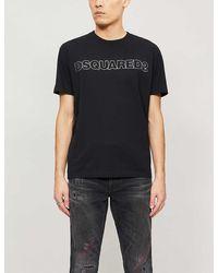 DSquared² Logo-print Cotton-jersey T-shirt - Black