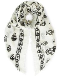 Alexander McQueen - Skull-print Modal And Cashmere-blend Pashmina - Lyst