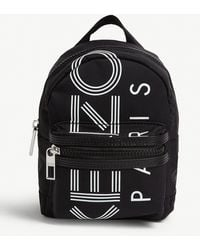 KENZO Logo-print Mini Nylon Backpack - Black