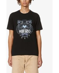 KENZO - Tiger Graphic-print Cotton-jersey T-shirt - Lyst