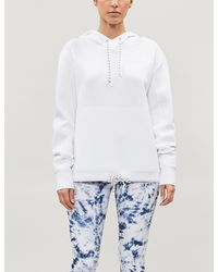 Lorna Jane Relaxed-fit Stretch-jersey Hoody - White