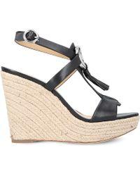 787b99209e2 MICHAEL Michael Kors - Darien Leather Wedge Sandals - Lyst