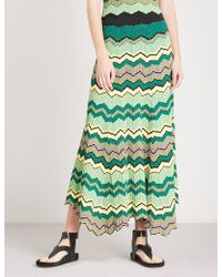 Sandro | Zigzag Knitted Skirt | Lyst