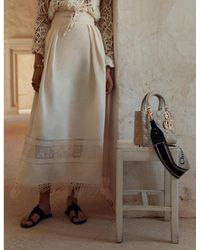 Dior Lady Myabc Leather Handbag - Brown