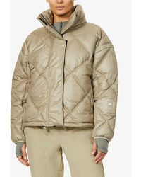 adidas By Stella McCartney Funnel-neck Recycled-polyester Jacket - Natural