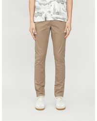 Ted Baker Super-slim-fit Cotton-twill Chinos - Natural