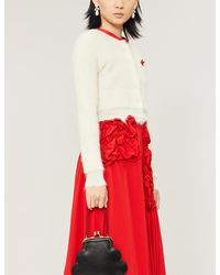 ShuShu/Tong Crystal-trim Mohair-blend Cardigan - White
