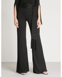 Galvan London - Vesper Flared Jersey Trousers - Lyst