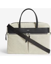 Knomo - Mayfair Hanover Slim Nylon And Leather Briefcase - Lyst