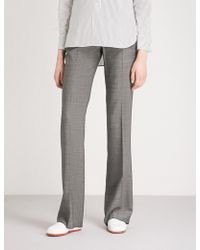 Max Mara - Verba Straight Wool-blend Trousers - Lyst