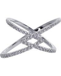 Carat* - Orion Millennium White Gold Finish Ring - Lyst