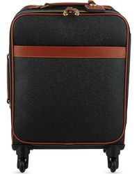 Mulberry Scotchgrain Four-wheel Trolley Suitcase 55cm - Black