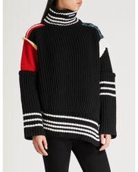 Balenciaga - Turtleneck Wool-knit Jumper - Lyst