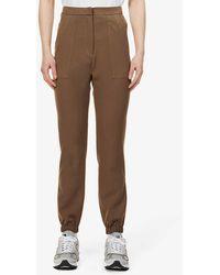 PREVU San Slim-fit Tapered-leg Stretch-woven jogging Bottoms - Brown