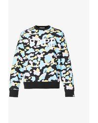 A Bathing Ape Camo-print Crewneck Cotton-jersey Sweatshirt - Black