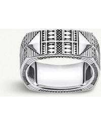 Thomas Sabo - Engraved Silver Ring - Lyst