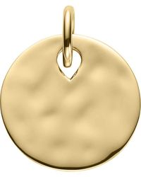 Monica Vinader Women's Ziggy 18ct Yellow-gold Vermeil Round Pendant - Metallic