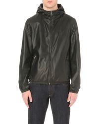 Ferragamo Reversible Hooded Leather Jacket - Black