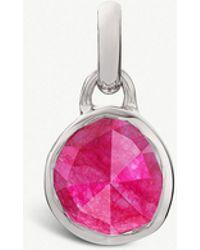 Monica Vinader Siren Quartz-gemstone 18ct Rose-gold And Silver Pendant - Pink