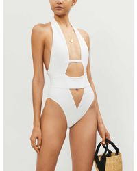 Agent Provocateur Anja Cutout Swimsuit - White