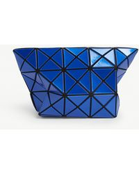 Bao Bao Issey Miyake Metallic Prism Pouch - Blue